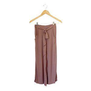 Aritzia Wilfred Faun Wide Leg Cropped Tie Pant XXS